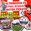 Free child entrance to Altrincham FC 18th March 3pm