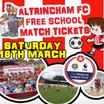 Free child entrance to Altrincham FC 18th March 3pm