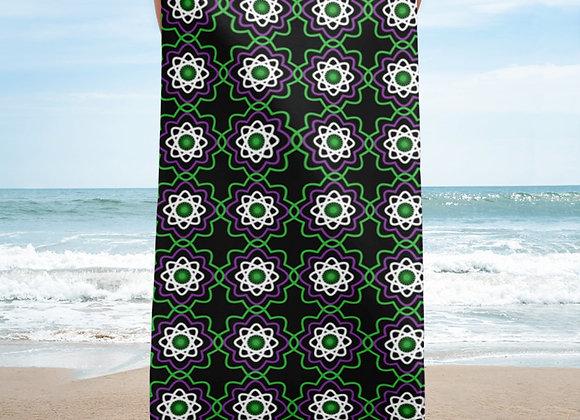 Astronomic Atoms Beach Towel