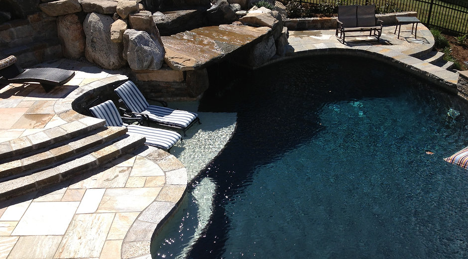 Custom Pool by Ridgefield Pond and Property