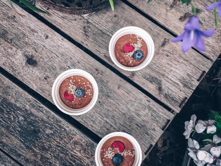 Veganes Kaffeedessert