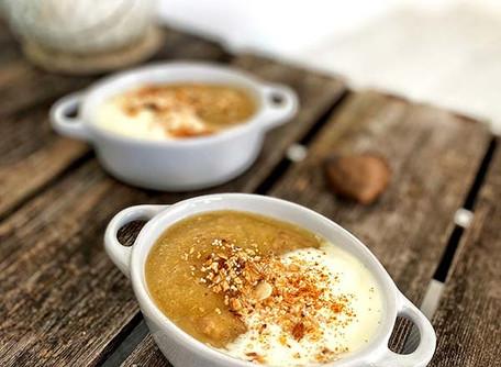 Wärmendes Apfelmus-Porridge