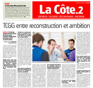 Article La Côte 10.01.2018