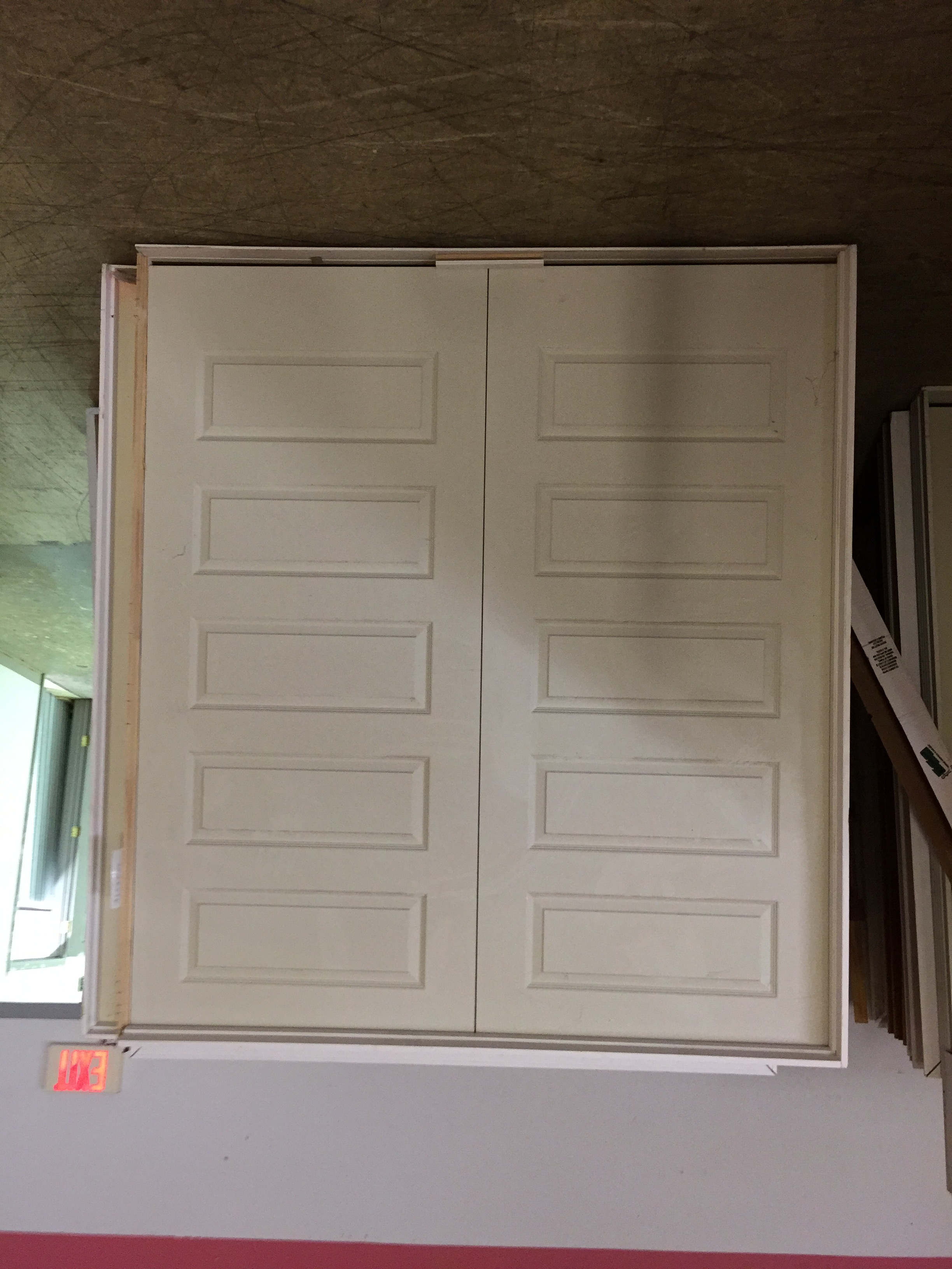 Double interior doors