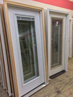 Steel doors with full lites