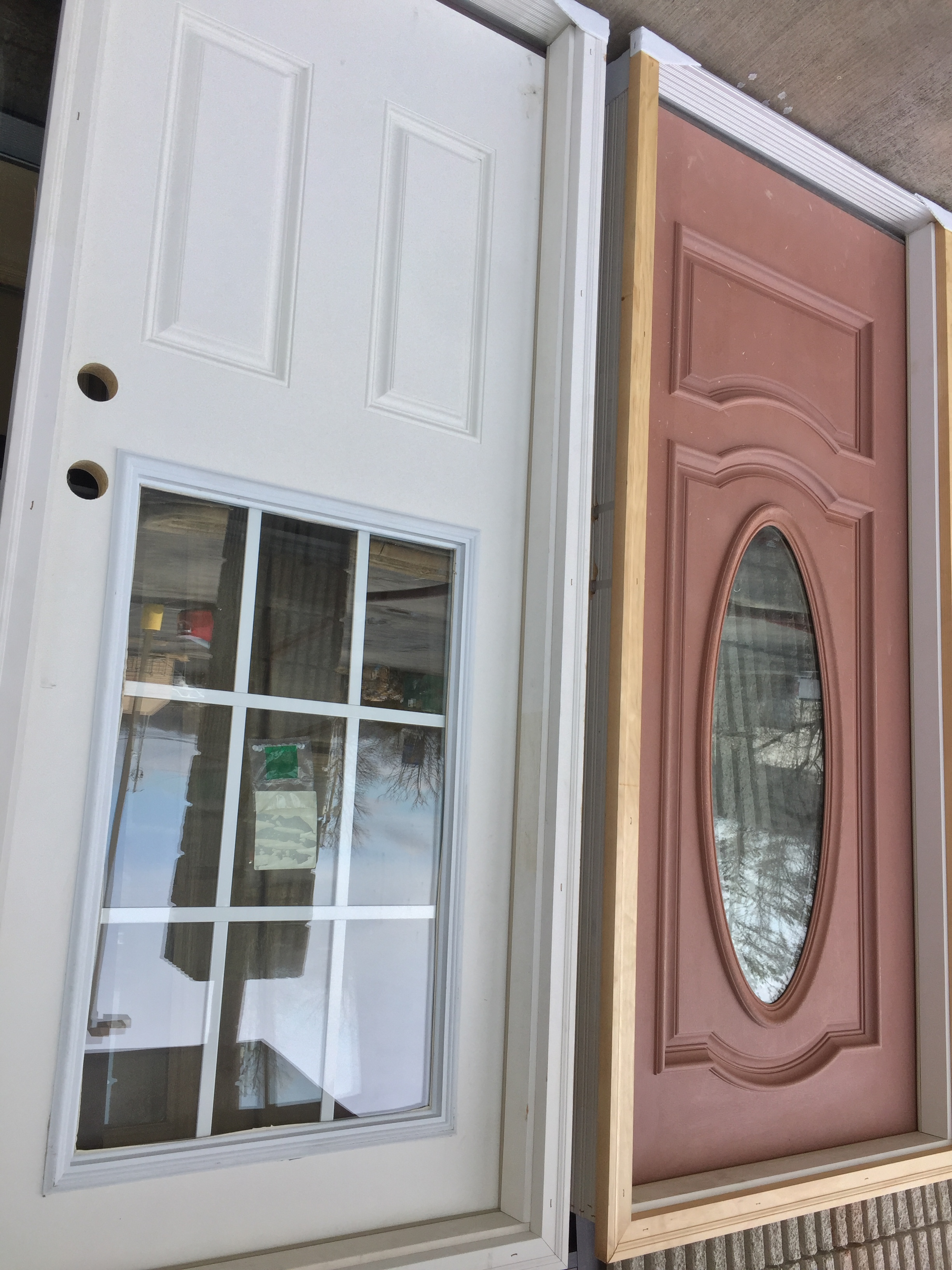 Fiberglass and steel door entryways