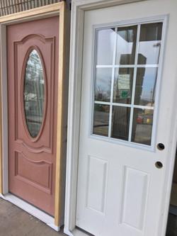 Fiberglass and steel door entryways