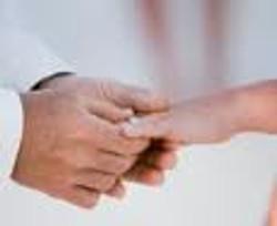 Vow renewal - hands