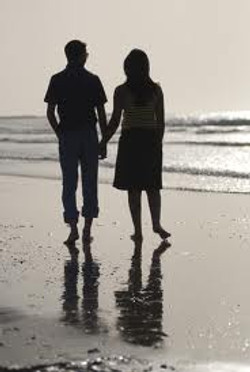 Wedding vow renewal couple