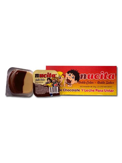 Nucita Bandeja- chocolate y vainilla- 24 Unidades