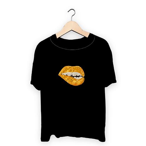 Franela de Mujer - Labios dorados