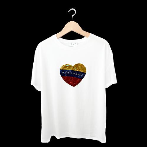 Franela Corazón de Venezuela - Mujer