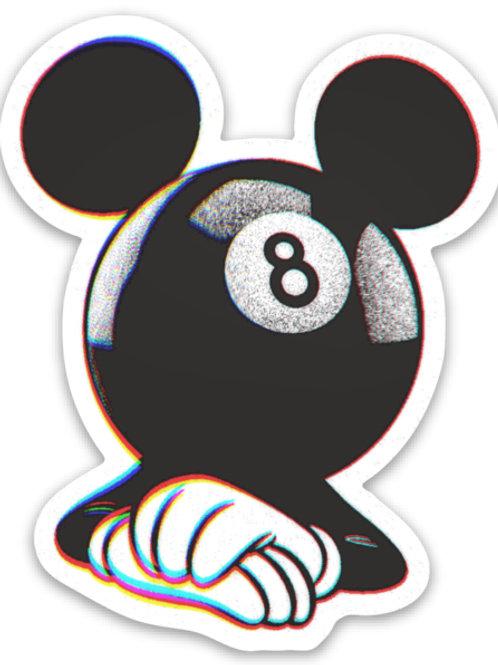 Eight Ball Mickey Sticker