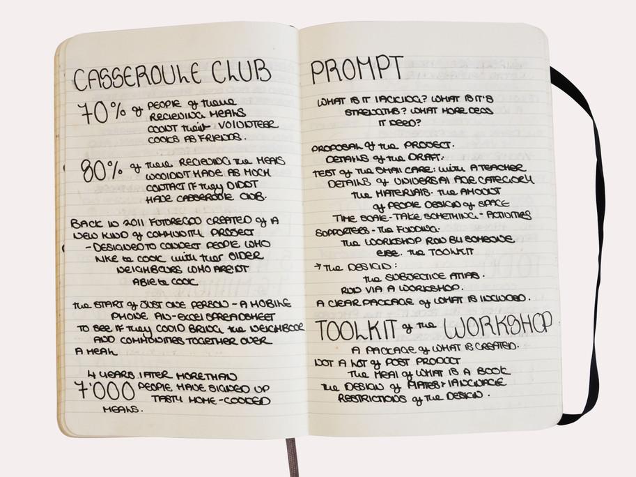 A Notebook of my Ideas