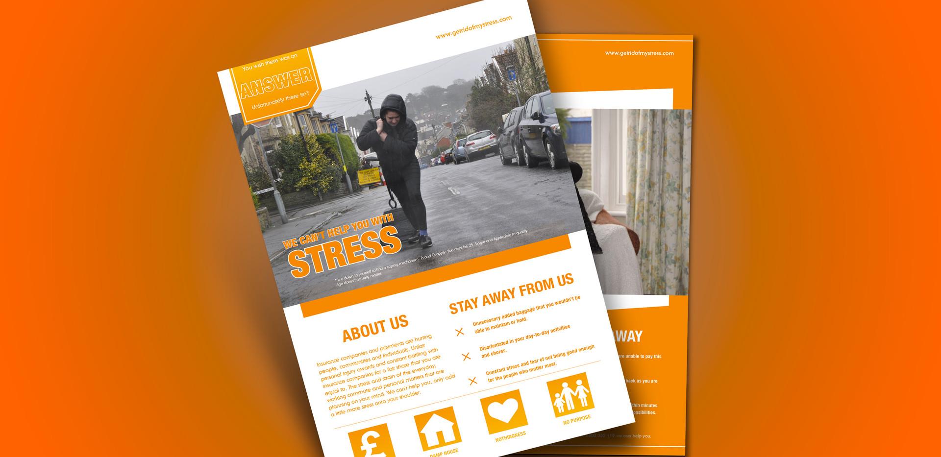 A Weight of Burden Insurance Leaflets