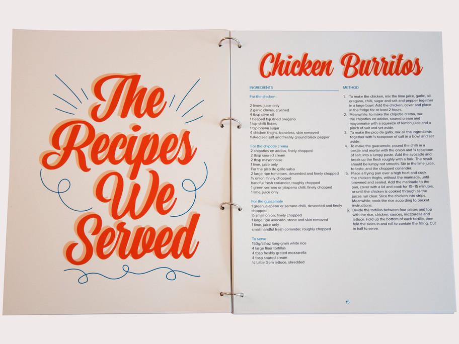 The Recipes We Served