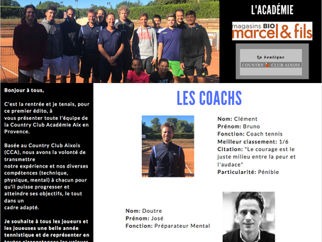 Newsletter 01 : La rentrée 2019  Country Club Academy