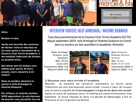 Newsletter 04 : Interview de Julie Armengol et Maxime Dubouch