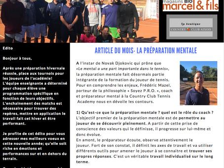 Newsletter 03 La préparation mentale par Frédéric Mazel