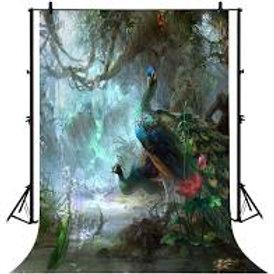 Peacock Theme Backdrop