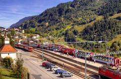 Disentis Train Station