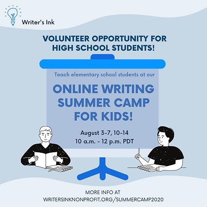(instagram) volunteers_ wink summer camp