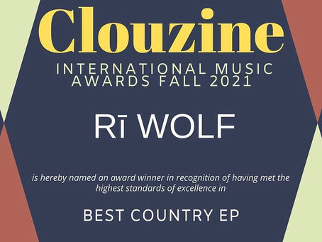 2021 Clouzine International Music Award Winner - Best Country EP