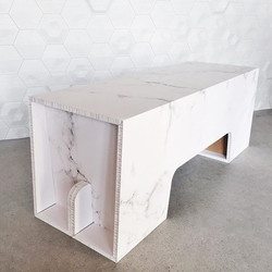 faux marble bench