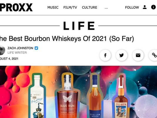 UPROXX: The Best Bourbon Whiskeys Of 2021 (So Far)
