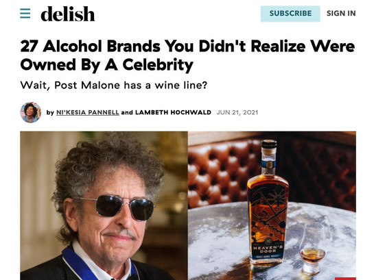 DELISH: 27 Alcohol Brands You Didn't Realize Were Owned By A Celebrity