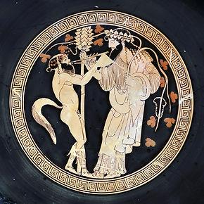 Satyre jouant de l'aulos en l'honneur de Dionysos - Altes Museum, Berlin