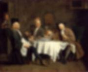 The Wine Drinkers (Les Buveurs de vin or Le Poète Piron avec ses amis, Jacques Autreau, ca. 1729/32 - Musee du Louvre, Paris | Savoir-boire | Drunks or Connoisseurs |  | From Drink to Savoir-boire | Wine and Painting | The Virtual Wine Museum