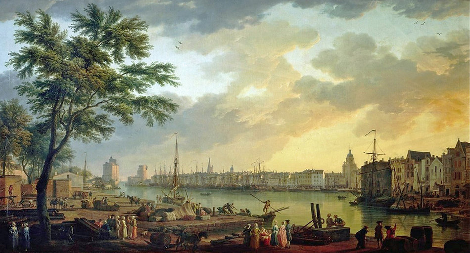 View on the Port of La Rochelle (detail), Claude-Joseph Vernet, 1762 | From Vine to Port | Wine and Painting | The Virtual Wine Museum