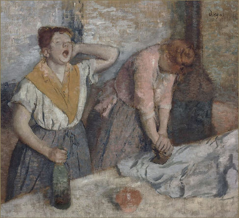 Women Ironing (Repasseuses), Edgar Degas, ca. 1884/86 - Musée d'Orsay | Picture of the Month | The Virtual Wine Museum