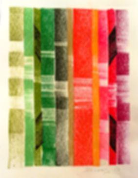 Vin et art, peinture - LES TRAVAUX ET LES JOURS : DE LA VIGNE AU VIN, Pastel sec, Bertrand Sallard