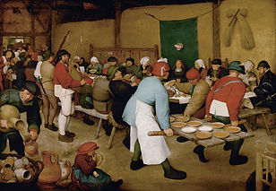 Peasant Wedding, Pieter Bruegel the Elder, 1566/69 - Kunsthistorisches, Vienna, Austria