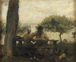 Cals Adolphe Felix Le Dejeuner a Honfleu