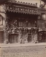 """Eugène Atget, """"L'Enfer"""", cabaret, 53 bd de Clichy, 9e arr., 1911 - MoMA, New York   Le Musée Virtuel du Vin - The Virtual Wine"""