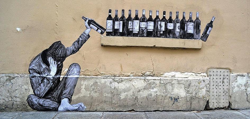 Street Artiste : Levalet - Paris | Bacchus et le Vin | Graffiti | Street Art | Exposition virtuelle | Le Musée Virtuel du Vin