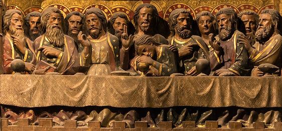 NOTRE-DAME, SCÈNES DE LA VIE DU CHRIST : LA CÈNE,Pierre de Chelles, 1300/18 - Clôture du chœur, coté nord