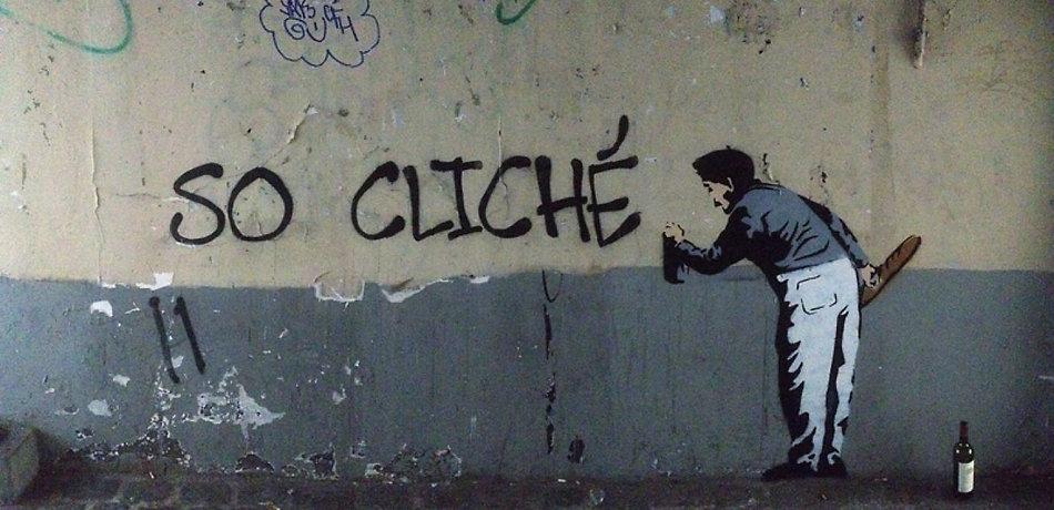 So Cliché, Banksy, 2013 - Passage des Postes, Paris 05 | Bacchus et le Vin | Graffiti | Street Art | Exposition virtuelle | Le Musée Virtuel du Vin