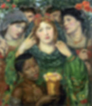 The Beloved (The Bride), Dante Rossetti, 1865/66 - Tate Britain, London | The Song of Songs | Blood of the Grapes, Old Testament, Bible | From Divine to Sacred | Wine and Painting | The Virtual Wine Museum