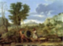 L'AUTOMNE ou LA GRAPPE DE RAISIN RAPPORTÉE DE LA TERRE PROMISE Nicolas Poussin (1594-1665) 1660-1664 - Musée du Louvre, Paris