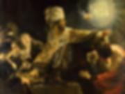 """""""Le Festin de Balthazar"""", Rembrandt, 1635 - National Gallery, Londres   Balthazar   Sang de la vigne, Ancien Testament, Bible   De vin divin en vin Sacré   Vin et peinture   MVV Le Musée Virtuel du Vin"""