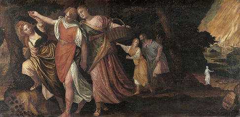 Loth et ses filles fuyant Sodome, Véronèse, c. 1580/85 - Kunsthistorisches Museum, Vienne, Autriche | Le Musée Virtuel du Vin