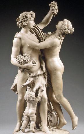 Bacchus, nymphe et enfant au raisin, terre cuite, Clodion - The Metropolitan Museum of Art