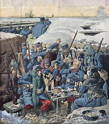Les rois dans la tranchée, Le Petit Journal 10 janv 1915