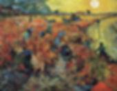 La Vigne rouge à Montmajour, Vincent Van Gogh, 1888 - Musée Pouchkine, Moscou