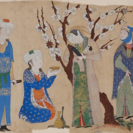 Miniatures persanes : la porte de la joie