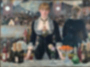 A Bar at the Folies-Bergere, Edouard Manet, 1881/82 - Courtauld Institute, London | Cabarets, Dance-halls, and Ballrooms | Social Life and Life in Society | From Drinking to Savoir-boire | Wine and Painting | The Virtual Wine Museum